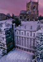 cemetery, crypt, winter