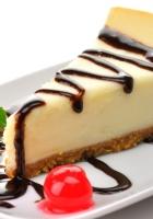cheesecake, cake, slice