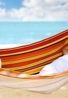 child, hammock, beach