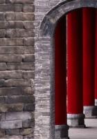 china, columns, red