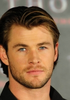 chris hemsworth, eyes, hair