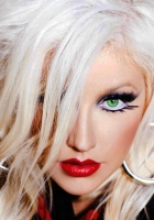 christina aguilera, make-up, unusual