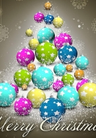 christmas decorations, bright, colorful