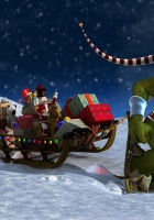christmas, night, gifts