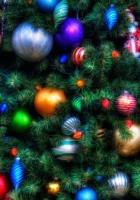christmas tree, ornaments, holiday