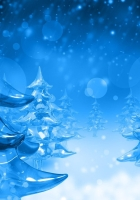 christmas trees, snow, icicles