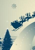 christmas trees, snowflakes, reindeer