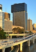 city, metropolis, bridge