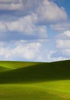 clouds, hills, sky