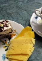 coffee, cheese, cakes