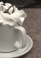 coffee, cup, cream