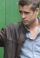 colin farrell, gray-haired, eyes