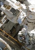 cosmonauts, survival suits, ship