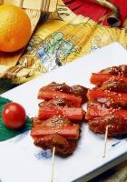crab meat, swords, tomato