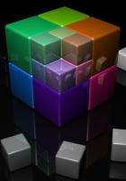 cube, color, metal
