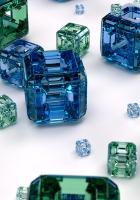 cubes, blue, green