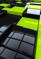 cubes, glass, gloss