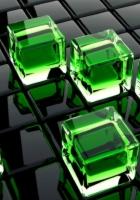 cubes, glass, surface