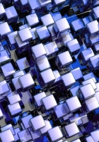 cubes, purple, glass