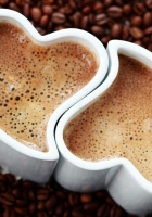 cups, coffee, grains