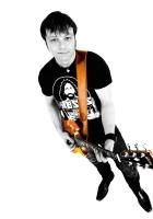 daniel boucher, guitar, t-shirt
