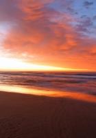 decline, evening, beach