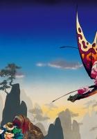dragon, flight, landscape