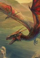 dragon, flying, chain