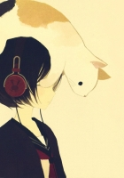 drawing, cat, headphones