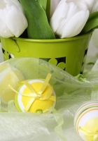 easter, eggs, candles