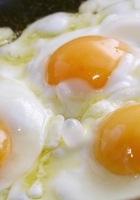 eggs, close-up, three