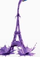 eiffel tower, color, shape