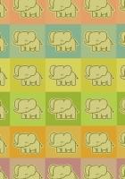 elephants, colorful, cool