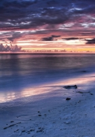 evening, clouds, sea