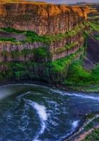 falls, canyon, rocks