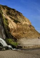 falls, coast, rock