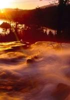 falls, current, stream