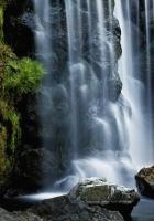 falls, stones, vegetation
