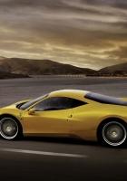 ferrari 458 italia, yellow, car