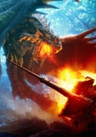 fight, dragon, fire