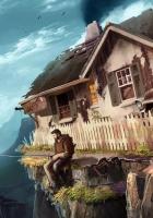 fisherman, house, car