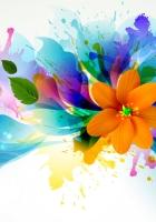 flower, vector, petals