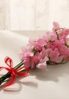 flowers, bouquet, bow