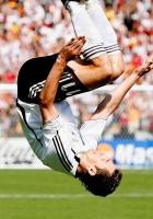 footballer, jump, flip