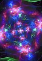 fractal, leaves, flowers