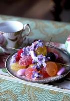 fruit candy, candies, tea