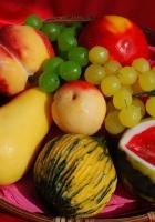 fruit, plate, plastic