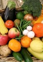 fruit, vegetables, basket