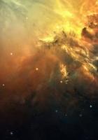 galaxy, space, light