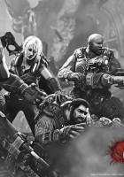 gears of war 3, gun, girl